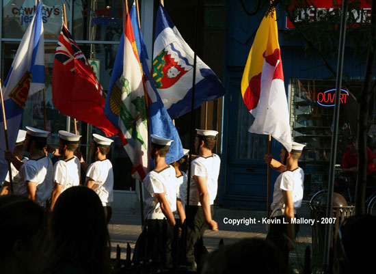 8- The  Procession of Cadets - Trois-Rivieres, Quebec