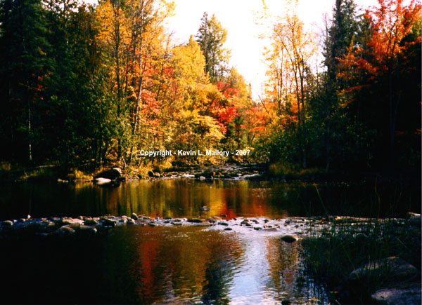 3 - Rapids in the Fall on the Bonnechere River - Kilaloe, Ont