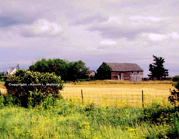 9 - The Old Barn, Field and Sky - Renfrew, Ont