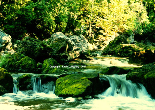 38 - Rocks & Rapids on the Sydenham River - near Inglis Falls, Bruce Peninsula, Ont