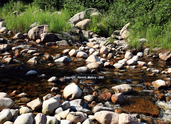 20 - Shadow Stream with Boulders in the Margaree Valley - Cape Breton
