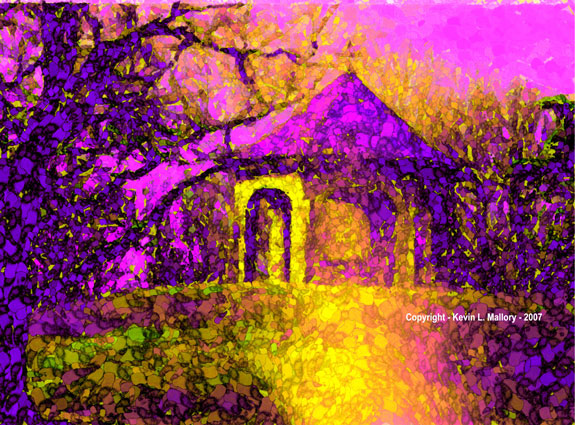 17 - Fanciful Gazebo - Pink Hue