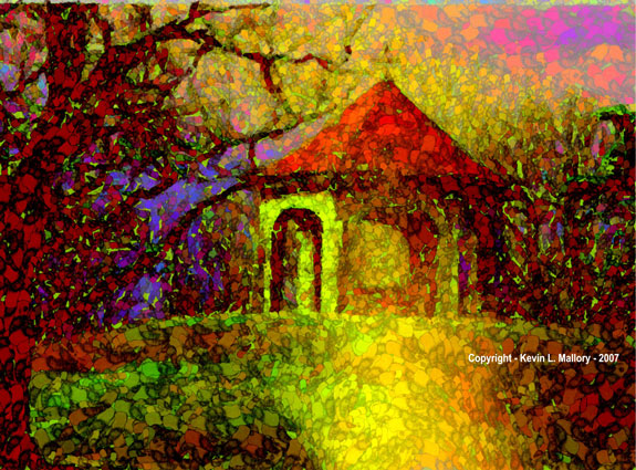 18 - Fanciful Gazebo - Rainbow Hue