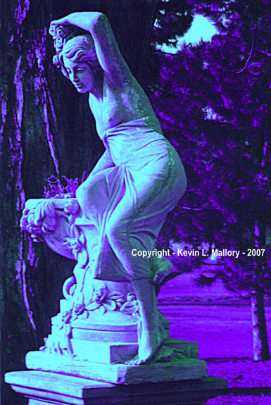 33 - Ultra Violet Twilight Hues on the Goddess Statue