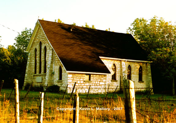9 - St. Margaret's Chapel in the Light at Day's End - Bruce Peninsula, Ontario