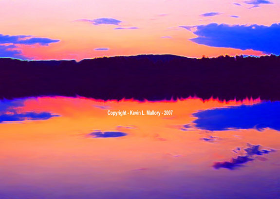72 - The Vivid Colours of Dusk on the Madawaska River - Madawaska, Ont