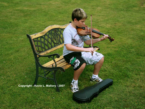 10- Young Fiddler at the Gaelic College - Cape Breton