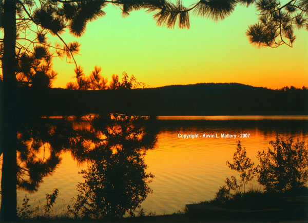 51 -  Sunset on the Madawaska River at the Red Deer Lodge, Ont