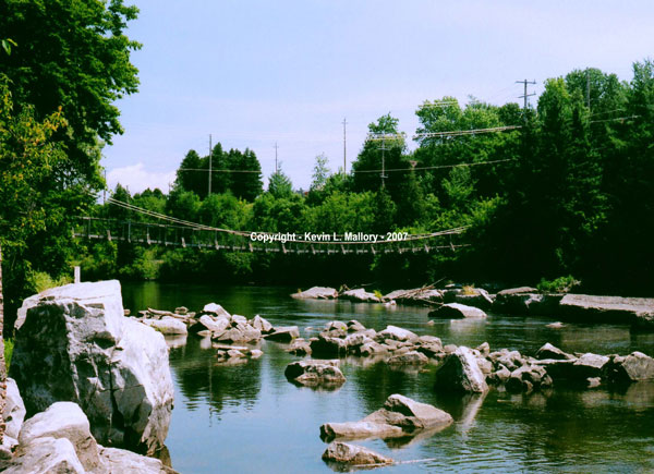 7 - Suspension Bridge at the Heritage Mill - Renfrew, Ont