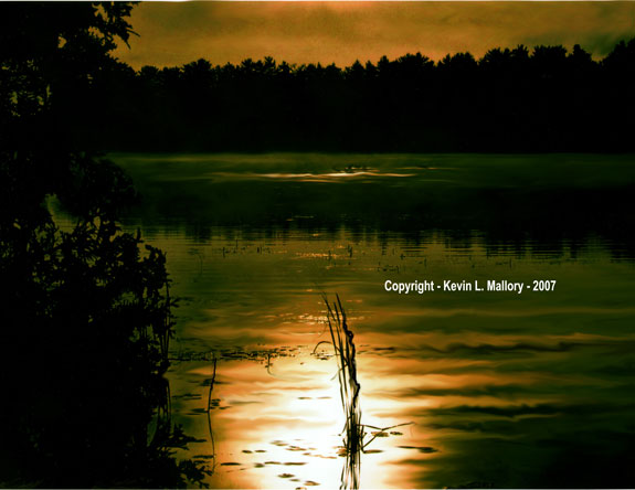 42 - The Break of Early Dawn on Bald Lake - Bobcaygeon, Ont