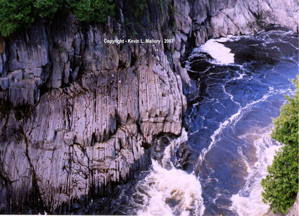 14 - The Towering Cliffs at Grand Falls  - New Brunswick