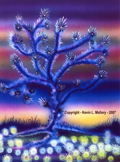 9 - The Mystical Joshua Tree - Ink Airbrushed Painting