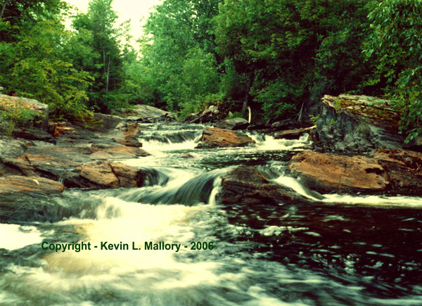 42 - Front View of the Falls Madawaska River - Calabogie, Ont